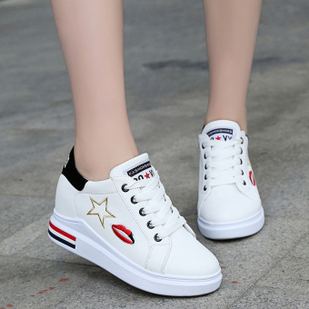 Heavy-bottomed in the by Gao Xiaobai shoes (White)