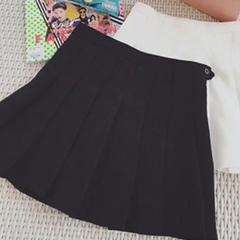 Hei Korean-style spring women high-waisted pants (Black) (Black)