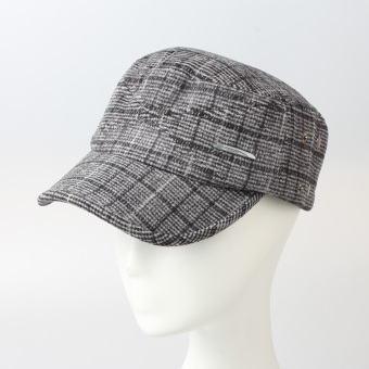 Heightening outdoor extra-large head around the large cap flat top hat (Light gray color)