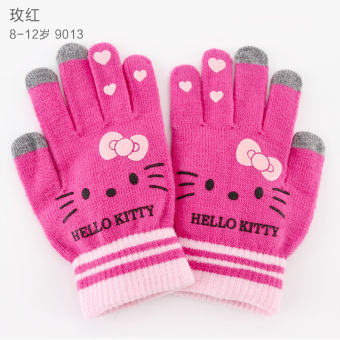 Hello Kitty cute warm touch screen children's gloves