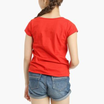 Hello Kitty Girls Cap Sleeves Top (Red) - 2
