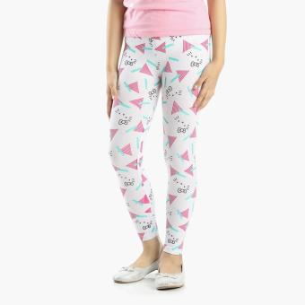 Hello Kitty Girls Geometric Leggings (White)