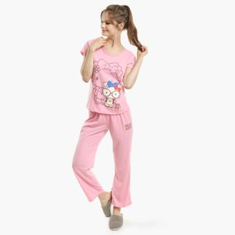 Hello Kitty Glittered Pajama Set (Dark Pink)