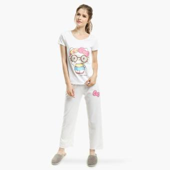 Hello Kitty Glittered Pajama Set (White) Price Philippines