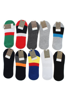 Hengsong Ankle Low Cut Socks Set of 10 (Multicolor) - picture 2