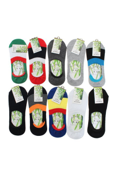 Hengsong Ankle Low Cut Socks Set of 10 (Multicolor)