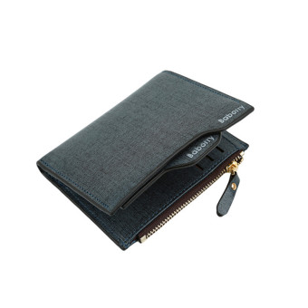 HengSong Classic Business PU Leather Bifold Wallets for Men Blue - intl