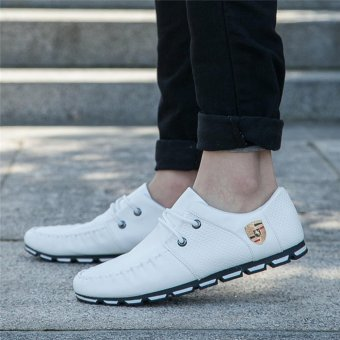HengSong Fall New Fashion Men 's Casual Shoes White - 4