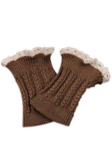 Hengsong Knitted Braid Leggings Khaki