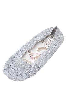 Hengsong Lace Slip Socks (Grey)