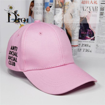 HengSong New Women Men anti social social club Baseball Hats Caps Pink - intl