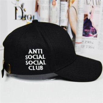 HengSong New Women Men anti social social club Baseball Hats CapsBlack - intl