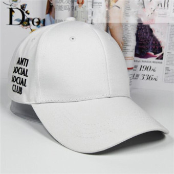 HengSong New Women Men anti social social club Baseball Hats CapsWhite - intl