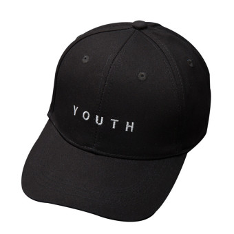 HengSong Women Ladies Cotton YOUTH Letters Baseball Hats Caps Black- intl