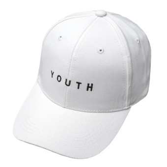 HengSong Women Ladies Cotton YOUTH Letters Baseball Hats Caps White- intl