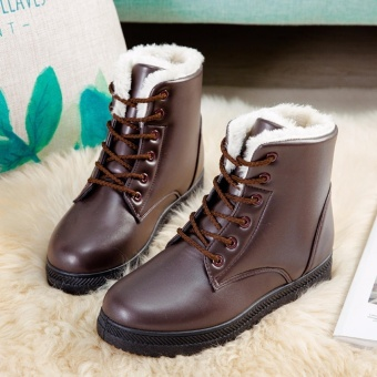 HengSong Women's Snow Boots Martin Boots Outlets Waterproof Ladis Shoes(Brown)