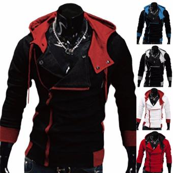 Hequ Aliexpress explosion of Assassin s Creed sweater obliquezipper hooded jacket men s W20 Red - intl - 2