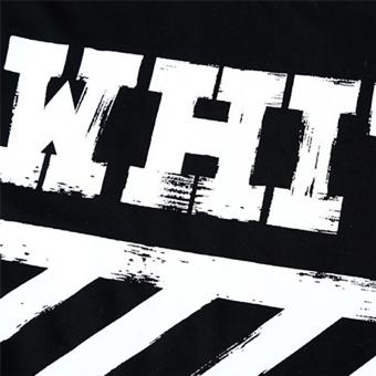 Hequ Fashion Men T-shirt Letter Printed Stretch Cotton T shirt White Short Sleeve Tees tops for men Black - intl - 3