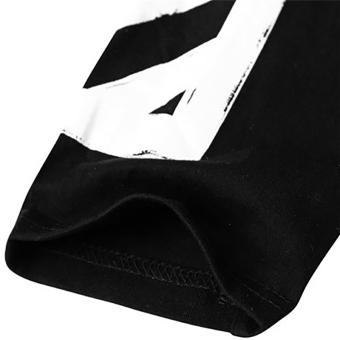 Hequ Fashion Men T-shirt Letter Printed Stretch Cotton T shirt White Short Sleeve Tees tops for men Black - intl - 4