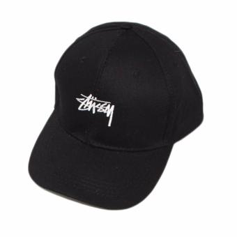 Hequ new chic Men and Women Fashion Tide Brand Stussy Retro Casual and Simple Baseball Cap Hat Black - intl