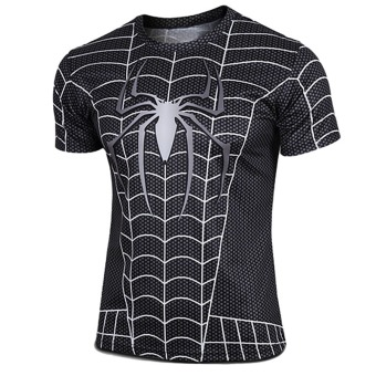 Hequ Spider Man 2 Short Sleeved T-shirt (Black)