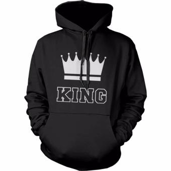 Hequ Winter Men KING Sweater Print Loose Couple hoodies Blackhoodies Hooded Sweater Black - intl