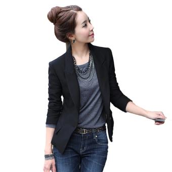 Hequ Women Slim Full Sleeve Small Suit Lapel Collar Office Jacket - intl - 3