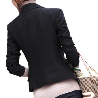 Hequ Women Slim Full Sleeve Small Suit Lapel Collar Office Jacket - intl - 2