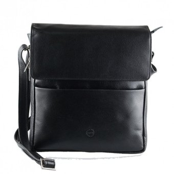 Hickok Genuine Leather Shoulder Bag (Black)
