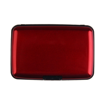 High Capacity Bank Card Holder Credit Card Name Card Box Case Red