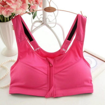 High-end four shock-resistant professional high bra (Rose color)