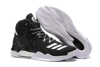 High Help D Rose 7 Boost Basketball Shoes Men's Outdoors New DesignShock Absorber ( Black )