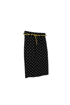 High Waisted Stretch Bodycon Wrap Midi Skirts WomenBlack - picture 2