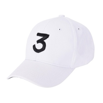 Hip Hop Chance The Rapper Chance 3 Cap Hat Letter EmbroideryBaseball Cap White - intl Price Philippines