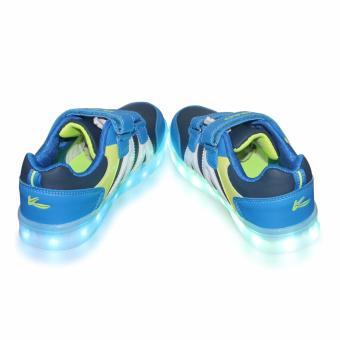 Hk Bubugao 5957A Deluxe Fashion Sports Dancing LED Lightning Boy's Sneakers Shoes (Blue) - 5