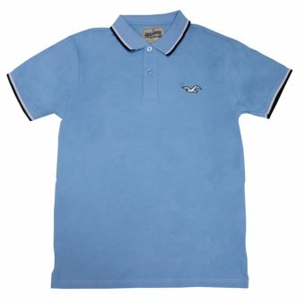 Hollister-1601 Men's Polo Shirt(Sky Blue) Price Philippines