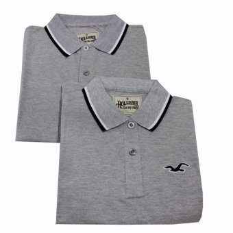 Hollister Couple Polo Shirt(Grey)
