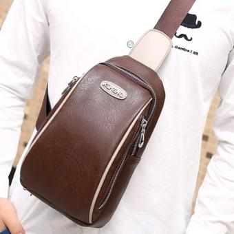 Homer Sleek Leather Cross Body Bag (Brown)