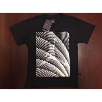 Hoops Jordan Logo with stripes diagonal t-shirt teens