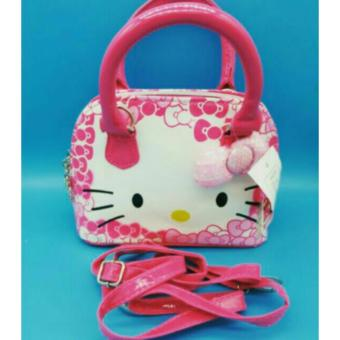 Hot new arrival Hello Kitty girl's princess Sequins bag walletpurse portable messenger children handbag(Deep Pink) - 3