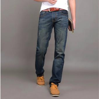 Hot Sale Jeans Men's Fashion Jeans Brand Men's Pants(Blue) - 5