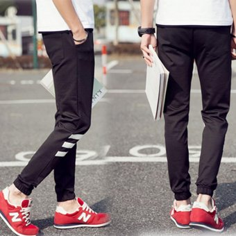 Hot Sale Men's Sport Running Jogger Long Baggy Pants CasualTrousers Harem Gym Sweatpants Black - intl