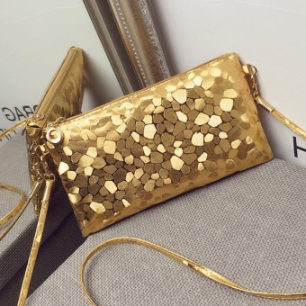 Hot Sale Vintage Women's Crossbody Bags Messenger Bag Shoulder Bag- Gold - intl