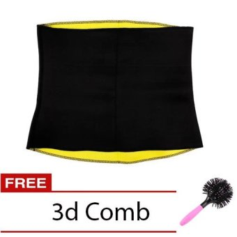 Hot Shaper Belt (Black) with Free 3D Spherical Comb