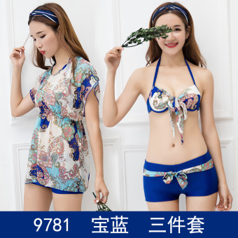 Hot Spring sexy women Slimming effect students split swimsuit