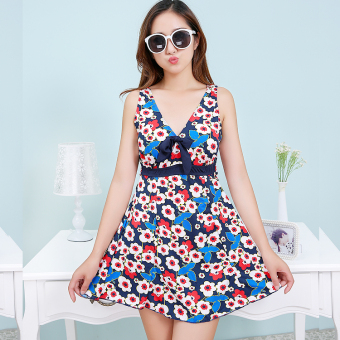 Hot Spring to increase swimsuit piece Skirt Style swimsuit