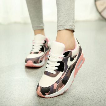 Hot Women Lady Girl Spring Autumn Camouflage Patterns JoggingSports Running Casual Fitness Sneakers Shoes Chinese Size 35-39(Pink) HZ252 - 4