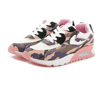 Hot Women Lady Girl Spring Autumn Camouflage Patterns JoggingSports Running Casual Fitness Sneakers Shoes Chinese Size 35-39(Pink) HZ252 - 2