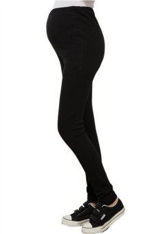Hotyv Elastic Long Maternity Pants HMPANTS006 Black