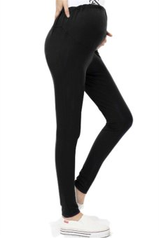 Hotyv Elastic Slim Maternity Pencil Pants HMPANTS005 Black